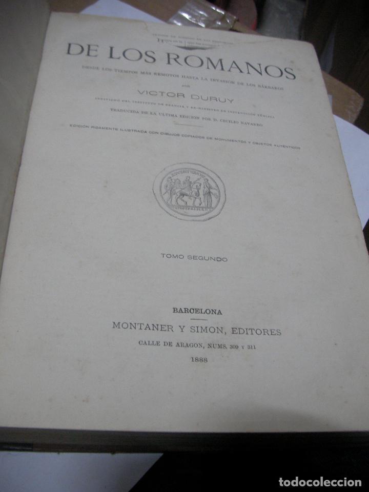 Libros antiguos: IMPRESIONATE ANTIGUOS VOLUMENES - HISTORIA DE LOS ROMANOS - VICTOR DURUY (MONTANER Y SIMÓN, 1888 - Foto 8 - 113359635