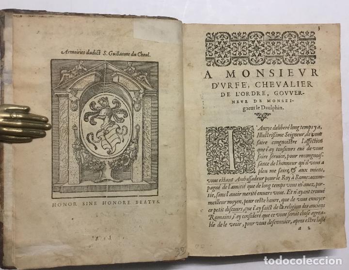 Libros antiguos: DISCOURS DE LA RELIGION DES ANCIENS ROMAINS, DE LA CASTRAMENTATION & DISCIPLINE MILITAIRE DICEUX. D - Foto 2 - 113748474