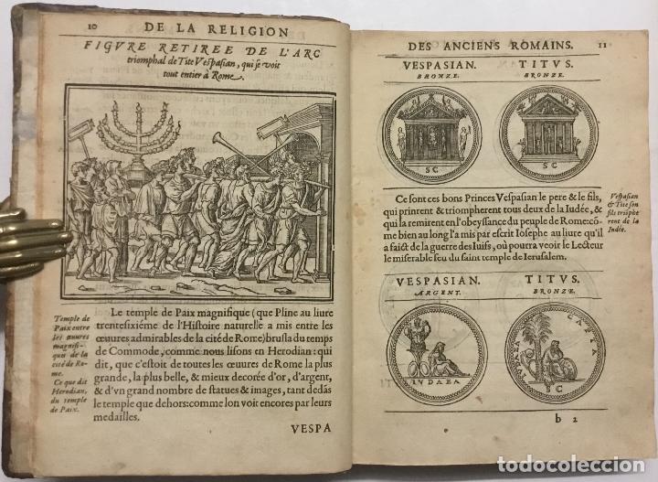 Libros antiguos: DISCOURS DE LA RELIGION DES ANCIENS ROMAINS, DE LA CASTRAMENTATION & DISCIPLINE MILITAIRE DICEUX. D - Foto 4 - 113748474