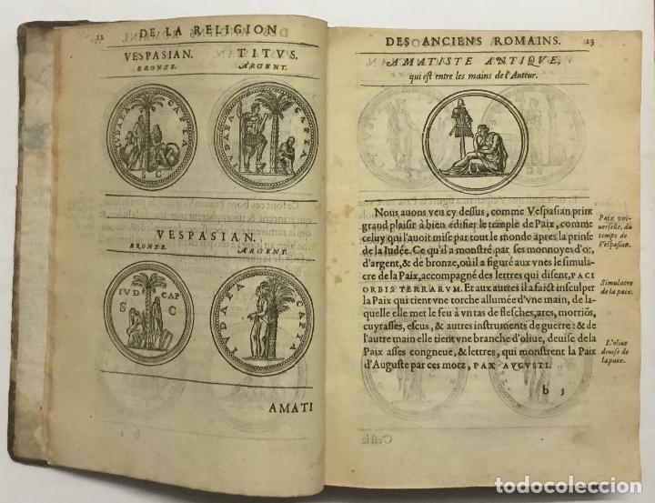 Libros antiguos: DISCOURS DE LA RELIGION DES ANCIENS ROMAINS, DE LA CASTRAMENTATION & DISCIPLINE MILITAIRE DICEUX. D - Foto 5 - 113748474