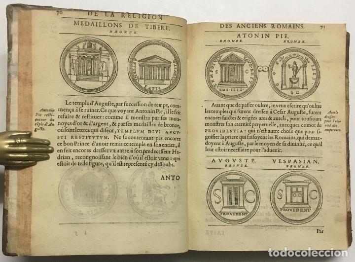 Libros antiguos: DISCOURS DE LA RELIGION DES ANCIENS ROMAINS, DE LA CASTRAMENTATION & DISCIPLINE MILITAIRE DICEUX. D - Foto 7 - 113748474