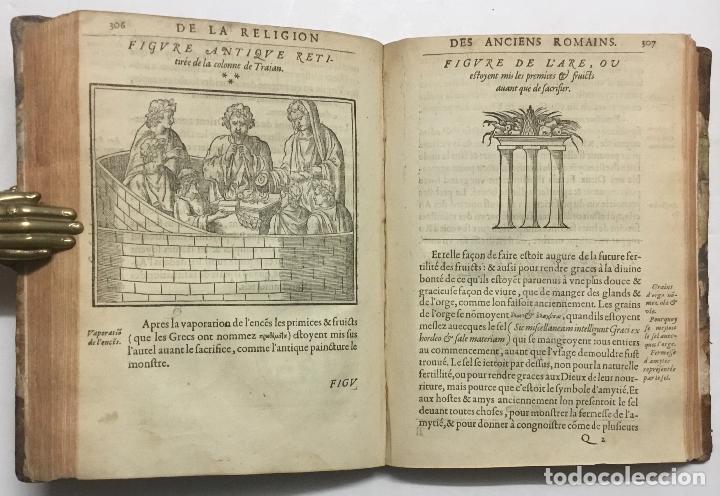 Libros antiguos: DISCOURS DE LA RELIGION DES ANCIENS ROMAINS, DE LA CASTRAMENTATION & DISCIPLINE MILITAIRE DICEUX. D - Foto 8 - 113748474