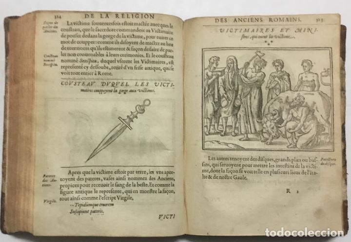 Libros antiguos: DISCOURS DE LA RELIGION DES ANCIENS ROMAINS, DE LA CASTRAMENTATION & DISCIPLINE MILITAIRE DICEUX. D - Foto 9 - 113748474