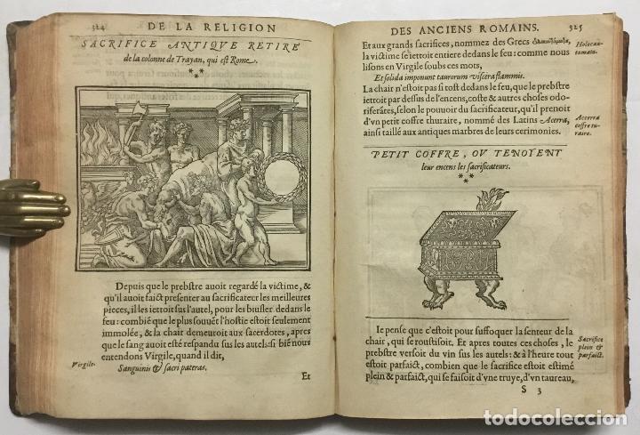 Libros antiguos: DISCOURS DE LA RELIGION DES ANCIENS ROMAINS, DE LA CASTRAMENTATION & DISCIPLINE MILITAIRE DICEUX. D - Foto 11 - 113748474