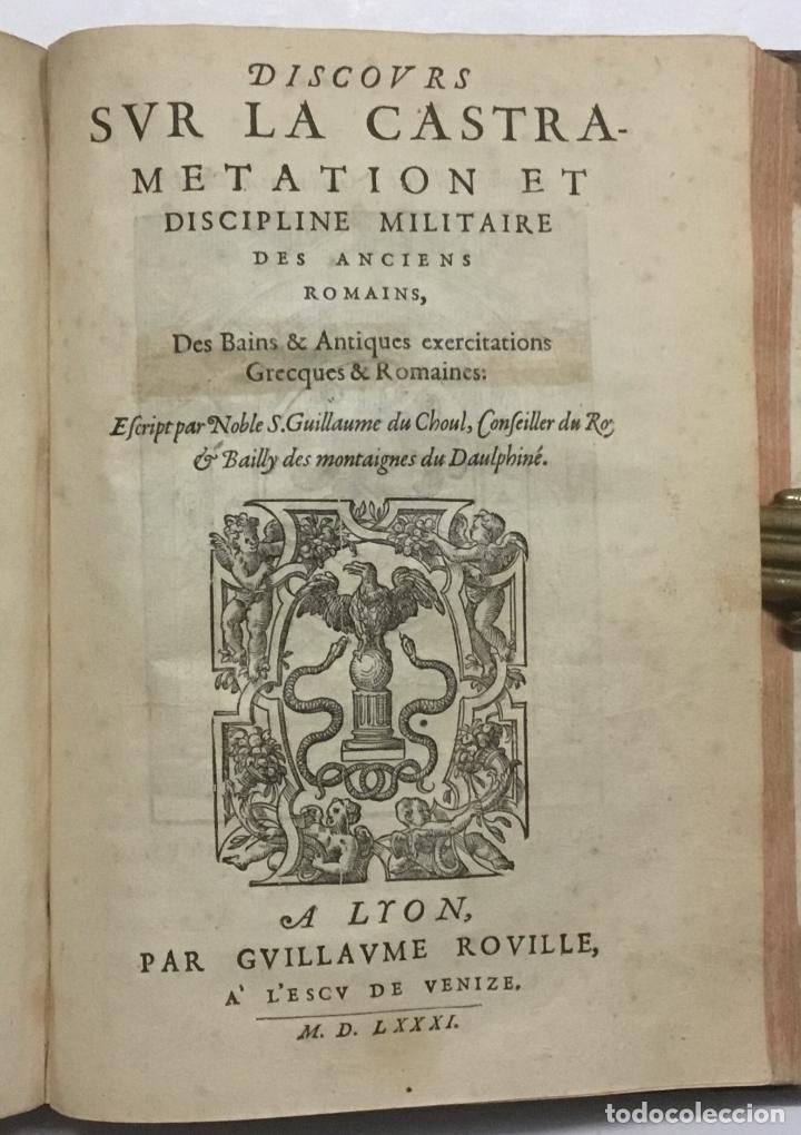 Libros antiguos: DISCOURS DE LA RELIGION DES ANCIENS ROMAINS, DE LA CASTRAMENTATION & DISCIPLINE MILITAIRE DICEUX. D - Foto 13 - 113748474