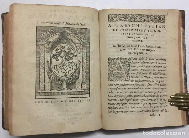 Libros antiguos: DISCOURS DE LA RELIGION DES ANCIENS ROMAINS, DE LA CASTRAMENTATION & DISCIPLINE MILITAIRE DICEUX. D - Foto 14 - 113748474