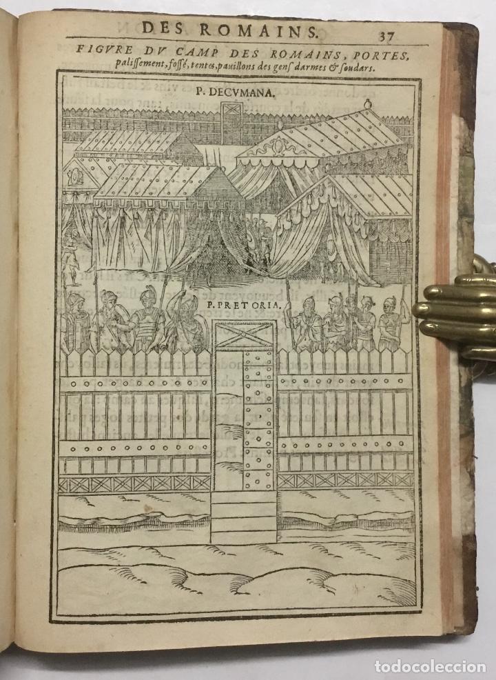 Libros antiguos: DISCOURS DE LA RELIGION DES ANCIENS ROMAINS, DE LA CASTRAMENTATION & DISCIPLINE MILITAIRE DICEUX. D - Foto 15 - 113748474