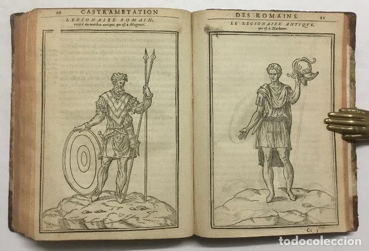 Libros antiguos: DISCOURS DE LA RELIGION DES ANCIENS ROMAINS, DE LA CASTRAMENTATION & DISCIPLINE MILITAIRE DICEUX. D - Foto 16 - 113748474