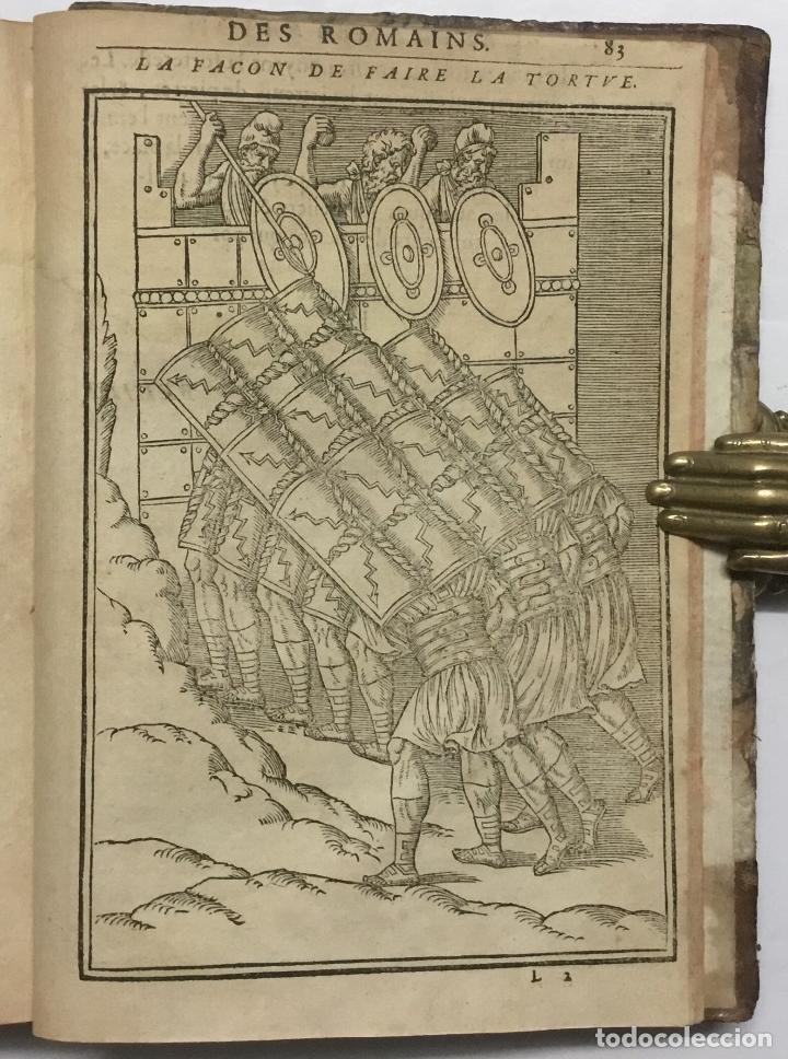 Libros antiguos: DISCOURS DE LA RELIGION DES ANCIENS ROMAINS, DE LA CASTRAMENTATION & DISCIPLINE MILITAIRE DICEUX. D - Foto 19 - 113748474