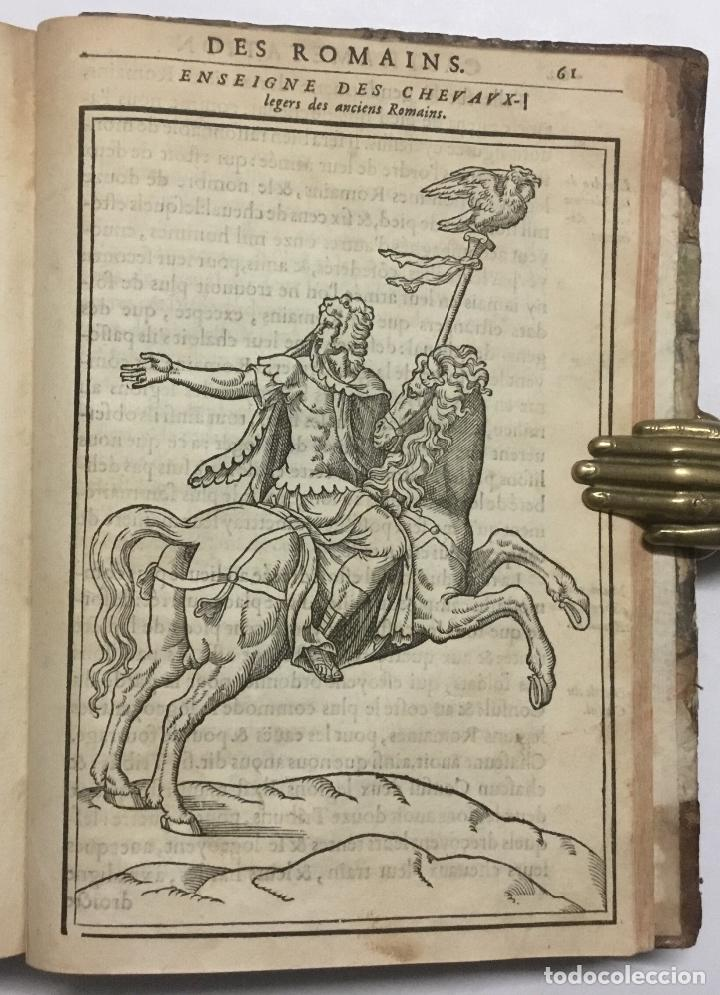 Libros antiguos: DISCOURS DE LA RELIGION DES ANCIENS ROMAINS, DE LA CASTRAMENTATION & DISCIPLINE MILITAIRE DICEUX. D - Foto 20 - 113748474