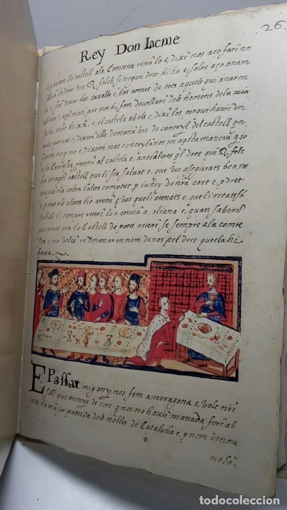 Libros antiguos: EL LLIBRE DELS FEYTS : CRONICA DE JAUME I.(facsimil.) - Foto 5 - 113940391