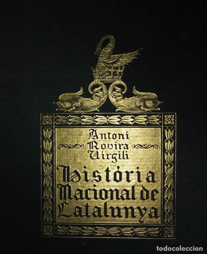 Libros antiguos: HISTÒRIA NACIONAL DE CATALUNYA, ROVIRA I VIRGILI COMPLETA 7 VOLUMENES ED.PÀTRIA 1922-1934 - Foto 7 - 114222551