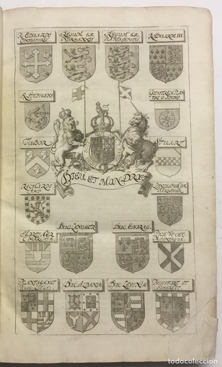 Libros antiguos: REGUM PARIUMQUE MAGNAE BRITANNIAE HISTORIA GENEALOGICA. Qua veterum..... Nuremberg, 1690. - Foto 4 - 114154772