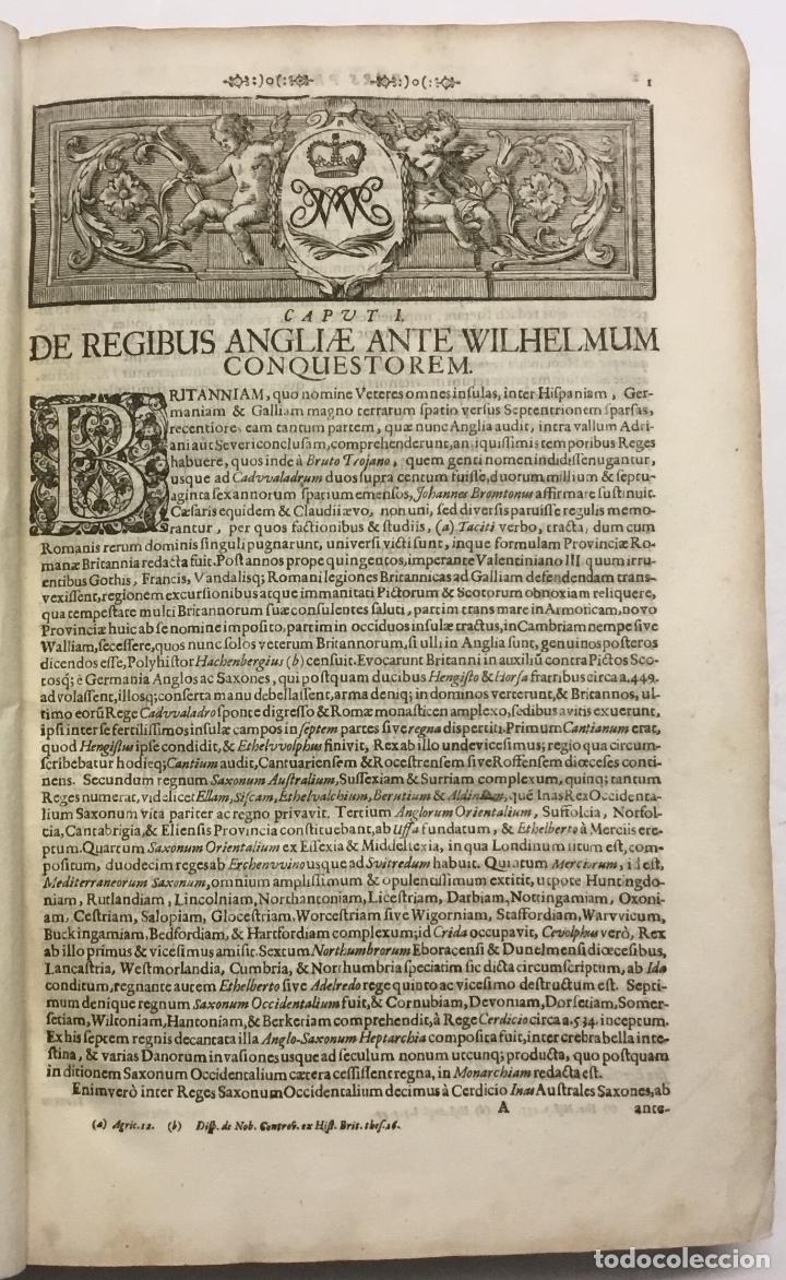 Libros antiguos: REGUM PARIUMQUE MAGNAE BRITANNIAE HISTORIA GENEALOGICA. Qua veterum..... Nuremberg, 1690. - Foto 5 - 114154772