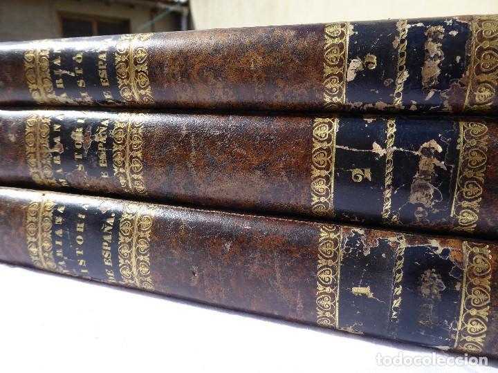 HISTORIA DE ESPAÑA. MARIANA. PIEL. 1852. III VOL. (Libros antiguos (hasta 1936), raros y curiosos - Historia Antigua)