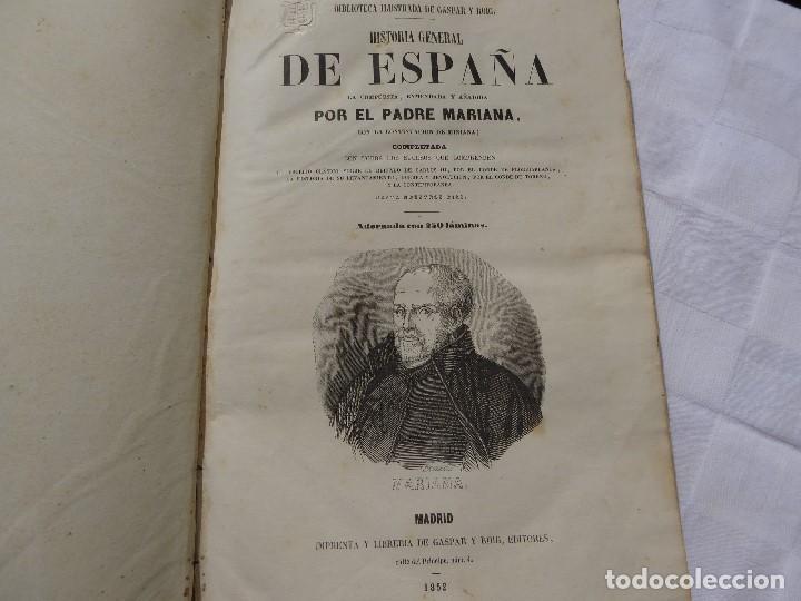 Libros antiguos: historia de españa. mariana. piel. 1852. III vol. - Foto 3 - 114593403