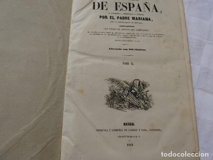 Libros antiguos: historia de españa. mariana. piel. 1852. III vol. - Foto 4 - 114593403