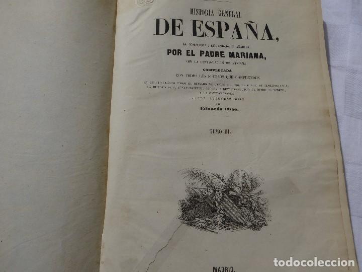 Libros antiguos: historia de españa. mariana. piel. 1852. III vol. - Foto 5 - 114593403