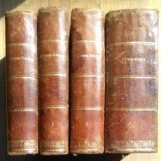 Libros antiguos: GLORIAS NACIONALES - HERNAN CORTES, DESCUBRIMIENTO Y CONQUISTA DE MEJICO - 4 TOMOS - 1868. Lote 114776915