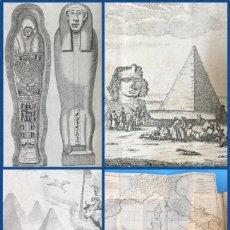 Libros antiguos: AÑO 1800 - HISTORIA ANTIGUA DE EGIPTO - 4 MAPAS Y GRABADOS.. Lote 115630635