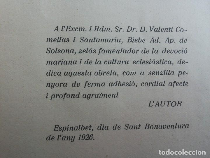 Libros antiguos: Madona de Corbera, per Mossèn Bonaventura Ribó, prevere. 1926 - Foto 6 - 116158655