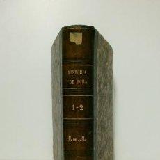 Libros antiguos: HISTORIA DE ROMA.- TEODORO MOMMSEN (1876) TOMOS I-II. Lote 116183383