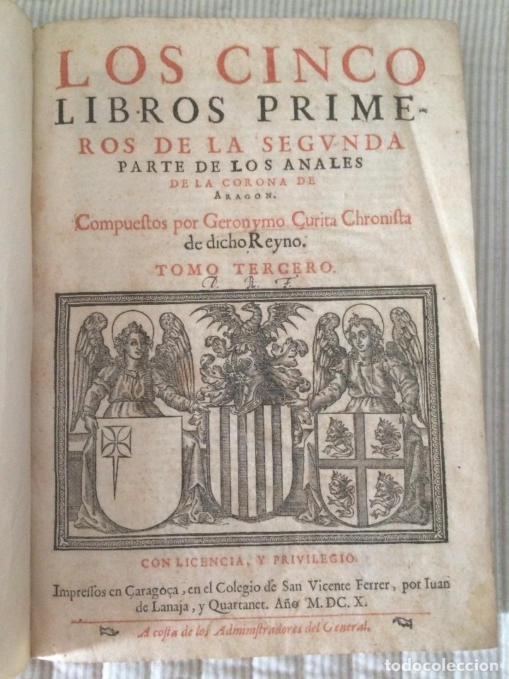 Anales De La Corona De Aragon 1610 Tomo Ter Vendido En Venta