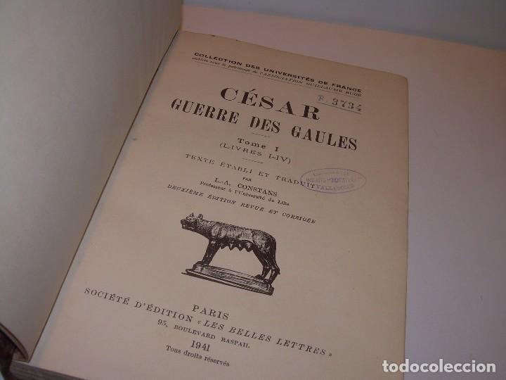 CESAR... GUERRA DE LAS GALIAS...AÑO 1941..CON PLANO DESPLEGABLE...LIBRO TAPAS DE PIEL. (Libros antiguos (hasta 1936), raros y curiosos - Historia Antigua)