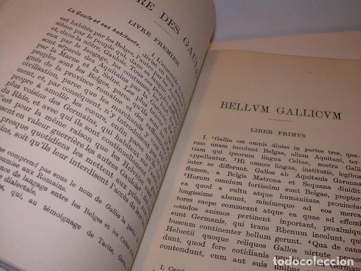 Libros antiguos: CESAR... GUERRA DE LAS GALIAS...AÑO 1941..CON PLANO DESPLEGABLE...LIBRO TAPAS DE PIEL. - Foto 4 - 116707391