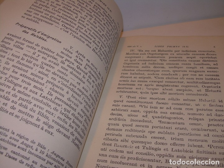 Libros antiguos: CESAR... GUERRA DE LAS GALIAS...AÑO 1941..CON PLANO DESPLEGABLE...LIBRO TAPAS DE PIEL. - Foto 5 - 116707391