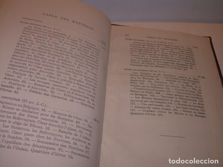 Libros antiguos: CESAR... GUERRA DE LAS GALIAS...AÑO 1941..CON PLANO DESPLEGABLE...LIBRO TAPAS DE PIEL. - Foto 7 - 116707391