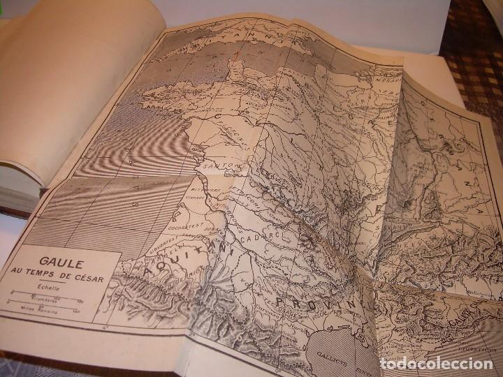 Libros antiguos: CESAR... GUERRA DE LAS GALIAS...AÑO 1941..CON PLANO DESPLEGABLE...LIBRO TAPAS DE PIEL. - Foto 9 - 116707391