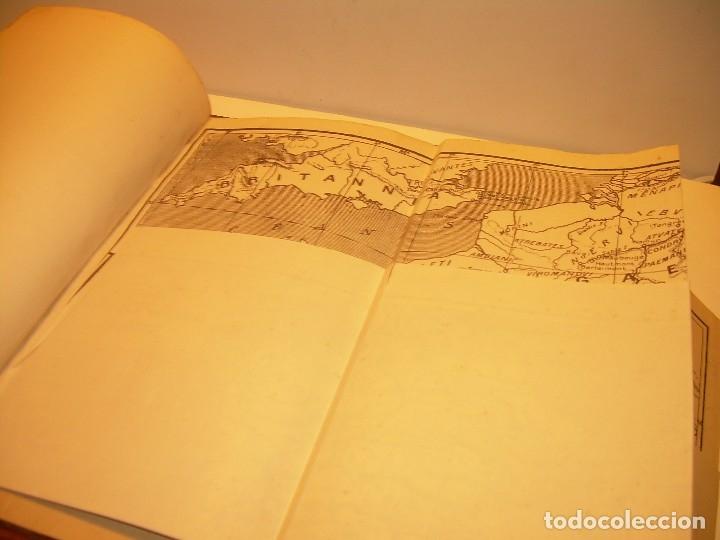 Libros antiguos: CESAR... GUERRA DE LAS GALIAS...AÑO 1941..CON PLANO DESPLEGABLE...LIBRO TAPAS DE PIEL. - Foto 10 - 116707391