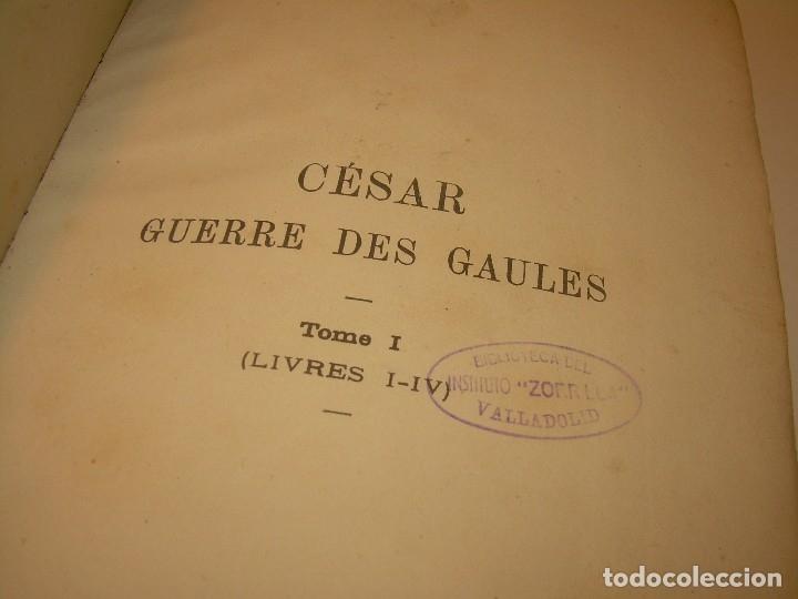 Libros antiguos: CESAR... GUERRA DE LAS GALIAS...AÑO 1941..CON PLANO DESPLEGABLE...LIBRO TAPAS DE PIEL. - Foto 11 - 116707391