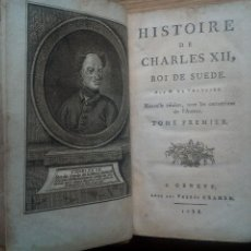 Libros antiguos: VOLTAIRE. HISTOIRE DE CHARLES XII. TOMO I. GINEBRA 1788. Lote 296626438