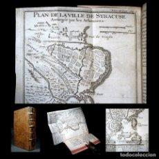 Libros antiguos: AÑO 1732 GRIEGOS Y PERSAS HISTORIA ANTIGUA GRECIA MAPA GRABADO DESPLEGABLE SIRACUSA. Lote 117894019