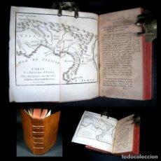 Alte Bücher - Año 1733 Conquistas de Alejandro Magno Historia Antigua Darío Filipo Grecia Mapa grabado desplegable - 117934543