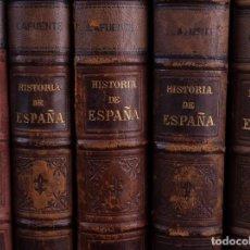 Libros antiguos: HISTORIA GENERAL DE ESPAÑA MODESTO LAFUENTE 1887. ONCE TOMOS. Lote 118163655