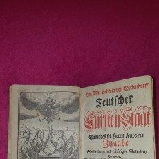 Libros antiguos: CURIOSO LIBRO ALEMÁN 1737. Lote 120838736