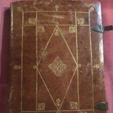 Libros antiguos: EJECUTORIA PROVISIÓN HIDALGUÍA VALLADOLID 1756 APELLIDOS ALONSO CAPELLÁN MANUSCRITO CIERRES BRONCE. Lote 120961347