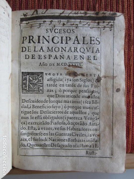 Libros antiguos: 1639-SUCESOS MONARQUÍA ESPAÑA.REY FELIPE IV.GUERRA 80 AÑOS.MARQUÉS DE LEGANÉS.CONDE DUQUE.ORIGINAL - Foto 5 - 121339719
