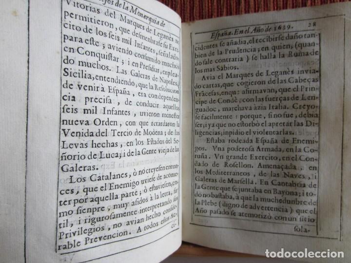 Libros antiguos: 1639-SUCESOS MONARQUÍA ESPAÑA.REY FELIPE IV.GUERRA 80 AÑOS.MARQUÉS DE LEGANÉS.CONDE DUQUE.ORIGINAL - Foto 6 - 121339719