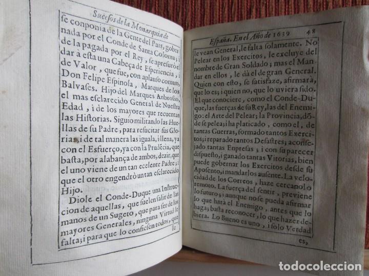 Libros antiguos: 1639-SUCESOS MONARQUÍA ESPAÑA.REY FELIPE IV.GUERRA 80 AÑOS.MARQUÉS DE LEGANÉS.CONDE DUQUE.ORIGINAL - Foto 7 - 121339719