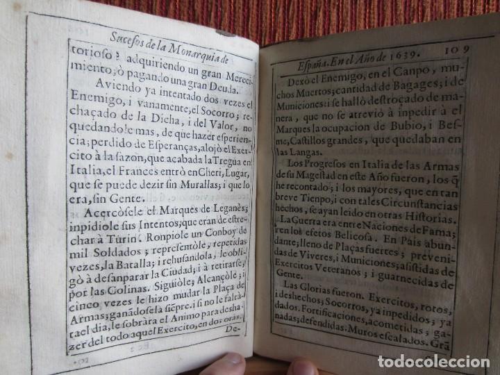 Libros antiguos: 1639-SUCESOS MONARQUÍA ESPAÑA.REY FELIPE IV.GUERRA 80 AÑOS.MARQUÉS DE LEGANÉS.CONDE DUQUE.ORIGINAL - Foto 10 - 121339719