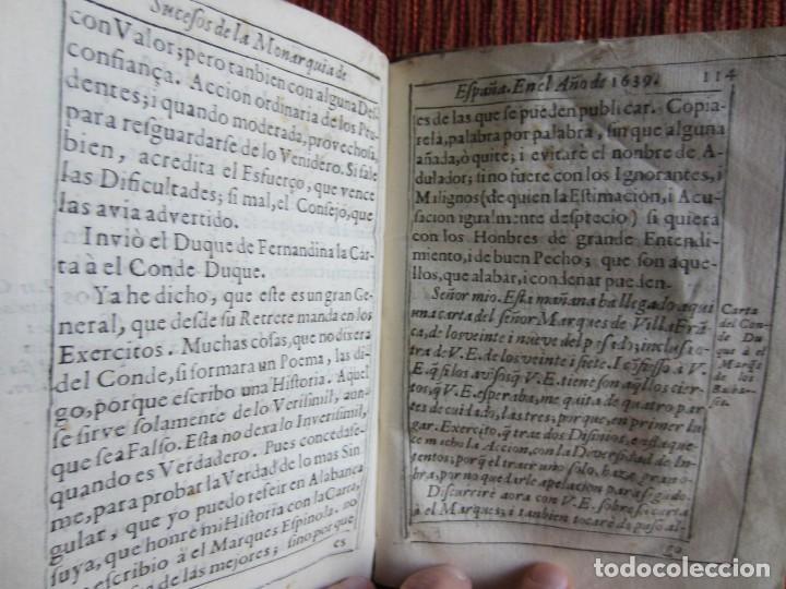 Libros antiguos: 1639-SUCESOS MONARQUÍA ESPAÑA.REY FELIPE IV.GUERRA 80 AÑOS.MARQUÉS DE LEGANÉS.CONDE DUQUE.ORIGINAL - Foto 11 - 121339719