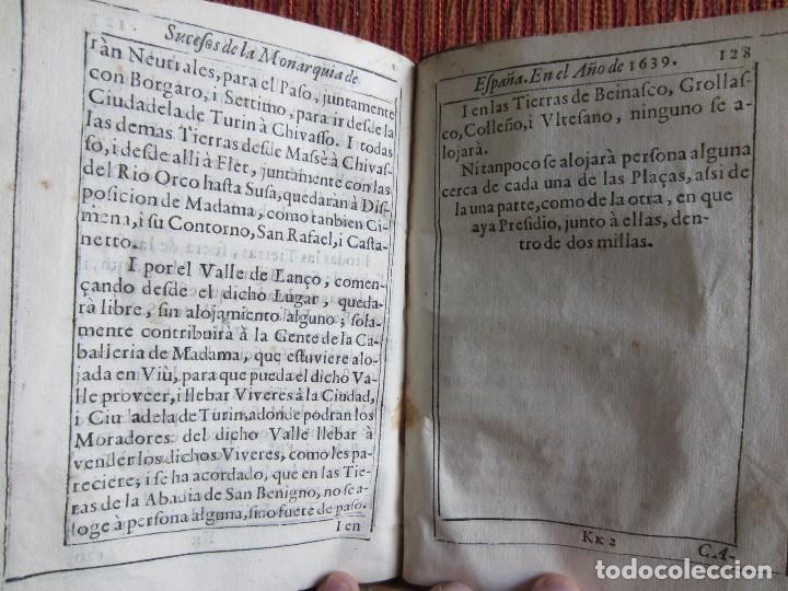 Libros antiguos: 1639-SUCESOS MONARQUÍA ESPAÑA.REY FELIPE IV.GUERRA 80 AÑOS.MARQUÉS DE LEGANÉS.CONDE DUQUE.ORIGINAL - Foto 13 - 121339719