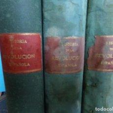 Libros antiguos: HISTORIA DE LA REVOLUCIÓN ESPAÑOLA,1808 . 1874,POR VICENTE BLASCO IBAÑEZ Y FRANCISCO PI.Y. MARGALL.. Lote 121899827