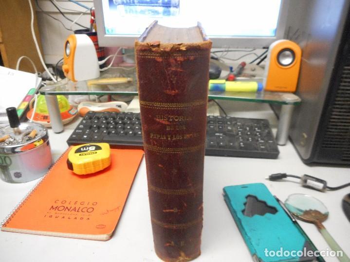 LIBRO HISTORIA DE LOS PAPAS Y LOS REYES 1870 TOMO TERCERO BUEN ESTADO CON LAMINAS (Libros antiguos (hasta 1936), raros y curiosos - Historia Antigua)