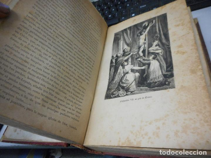 Libros antiguos: libro historia de los papas y los reyes 1870 tomo tercero buen estado con laminas - Foto 4 - 134894785