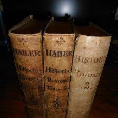 Libros antiguos: COMPENDIO DE LA HISTORIA ROMANA. CATROU Y ROVILLE. 1735/36. 3 TOMOS. OBRA COMPLETA.. Lote 122903787